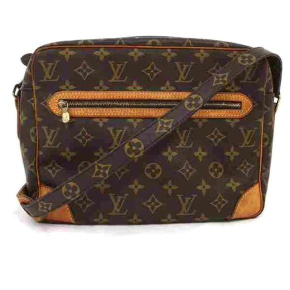 Auth Louis Vuitton Crossbody Bag Brown #6471L30